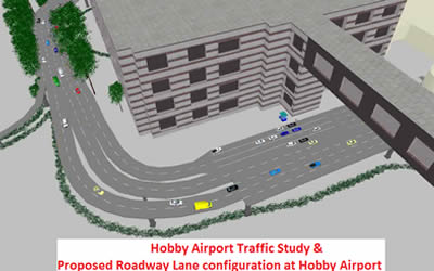 Proposed Roadway Lane Configuration at Houston Hobby Airport